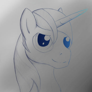 Shining Blue Doodle by TunRae