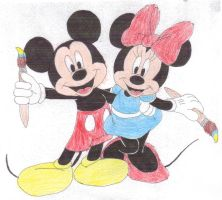 Epic Mickey and Epic Minnie by SquadUnit19