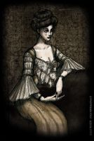 Melancholic Lady by LaTaupinette