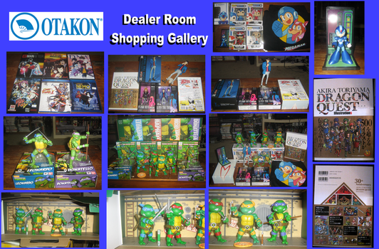 Otakon Dealer Room Shopping Gallery by ProfessorMegaman