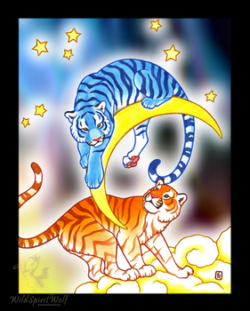Celestial Tigers - Copic by WildSpiritWolf