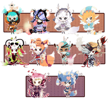[CLOSED] ADOPT 27 - Multiple adopt set 2 by Piffi-sisters
