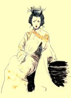 The Geisha with the Fan... by BlueMillenium