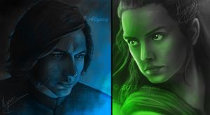 Kylo Ren/Ben Solo and Rey Studies by Alyoxy