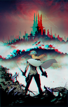 Reborn by Greg Capullo in 3D Anaglyph by xmancyclops