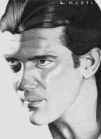 Antonio Banderas Portrait by Martin--Art