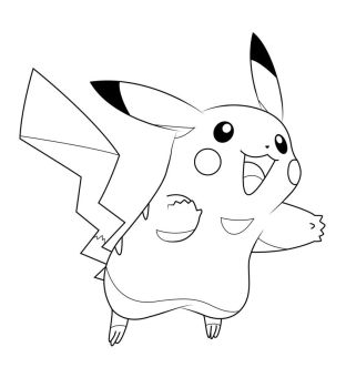 Pickachu Outline by EmmaL27