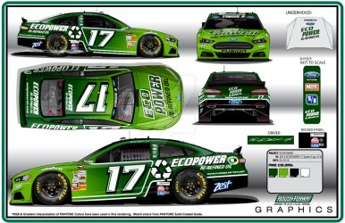 2014 Roush Fenway #17 EcoPower Ford Fusion by graphicwolf