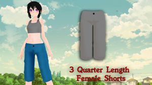 MMD 3 Quarter Length Female Shorts DL by Allena-Frost-Walker