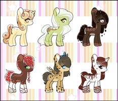 (Closed) Flat Adopts: Dessert Ponies by NeoAbyss-Adopts