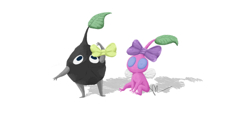 Rock And Winged Pikmin by KylaR-lapidotshipper