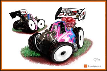 RADIOSISTEMI RR8 RC NITRO BUGGY CARTOON by PIKEO
