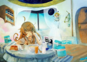 Peanut Butter Girl : Morning by caly-graphie