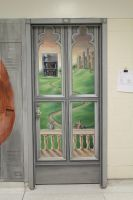 Castle Door Painting by Mimitchki