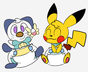 [COLOR, by sir-dancalot] Pokemon Diaper Dungeon by Commando125