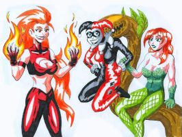 DC Villainesses by strangefour