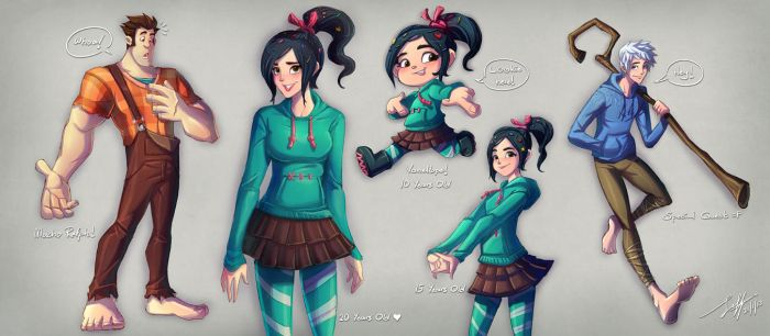 Ralph and Vanellope and Guest by Jeff-Mahadi