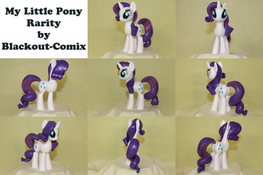 Rarity My Little Pony Sculpture by Blackout-Comix