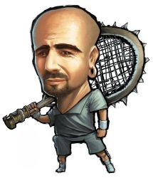 Andre Agassi by Aburto