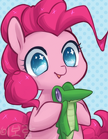 Pinkie Pie and Gummy by Mousu