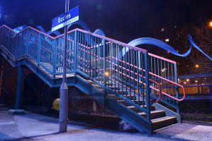 Eccles Train station by raggaphoto