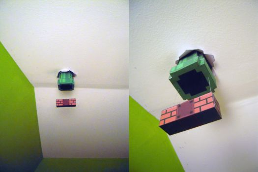 Mario's pipe in my room by Anclin--RAWR