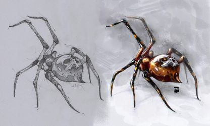 Spider Pencil Colored Psdelux by psdeluxe
