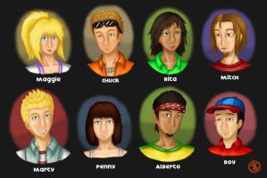 Flipline Characters 1 by Madame-Meepers