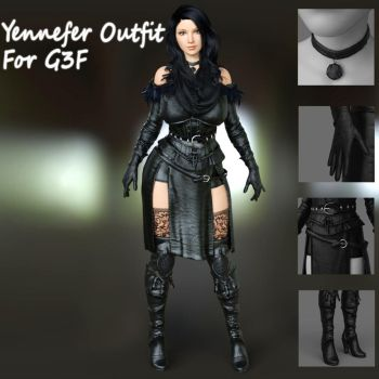 Yennefer Outfit For G3F. by guhzcoituz