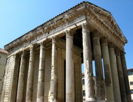 Temple of Augustus and Livia by Elorine