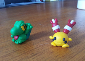 Treecko and Chingling Polymer Clay