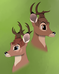 Bambi's Sons_Contest Entry 1 for Disney-Club by SolitaryGrayWolf
