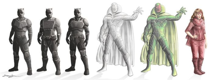 Unofficial Avengers Character Designs by SamSaxton