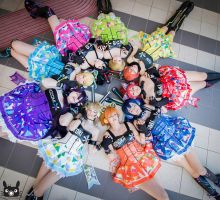 Love Live Cyber Cosplay Group by CrimsonxRuby