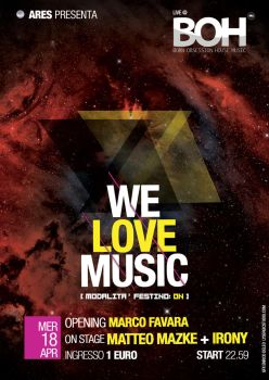 WE LOVE MUSIC - EVENT FLYER by lysergicstudio