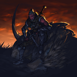 The last Griffin ( Witcher 3 fanart) by ninjakimm
