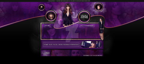 Header of Lea Michele from Visuals Avenue Blog by VisualsAvenue