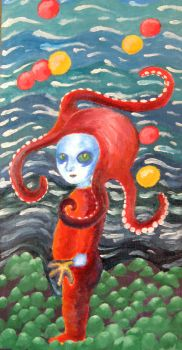 Baby Medusa - Octopus Girl by EclecticEcho
