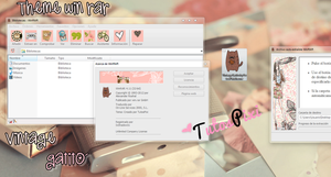 Tema Win rar Vintage Gatito by TutosPixi