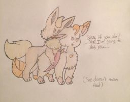 When bae is too clingy  by Starry-the-Jolteon