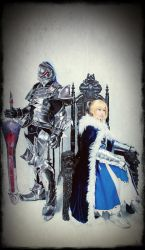 King Arthur and her Knight by liberifatalis