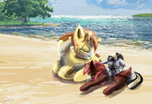 Zecora and friends Naptime by SuperRobotRainbowPig