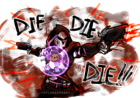 Reaper and Sombra by serpyra