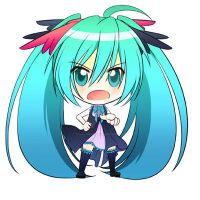 chibi miku by Crazy-megame