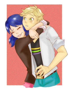Miraculous Hug (colored) by RinaM