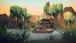 Swamp Environment- Low Poly Model by charmainenomnom