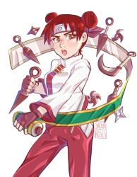 Tenten and her weapons by oberrous