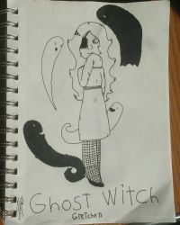 Ghost witch (Witchtober day 10) by Glass-Clouds