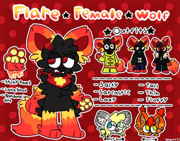 Flare Ref | March 2018 | FURSONA by Wolffiepuff
