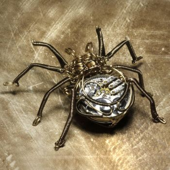 Clockwork spider steampunk by CatherinetteRings